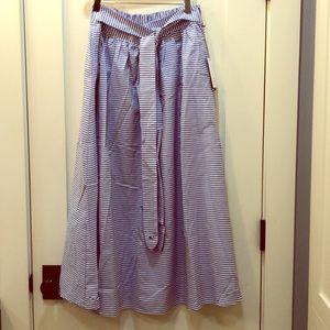 Vineyard Vines for Target blue-white striped skirt